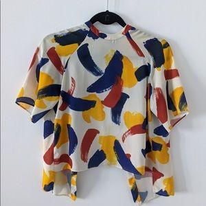 Zara Multicolor Backless Top